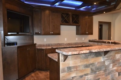 Wet Bar with Entertainment Center