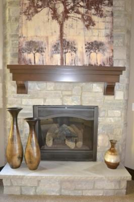 custom wood mantle 2